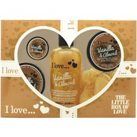 I Love... The Little Box of Love Vanilla and Almond Gift Set 250ml Bath & Shower