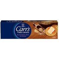 Carrs Three Grain Crackers Buckwheat Spelt & Sesame