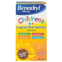 Benadryl Childrens 6+ Allergy Relief