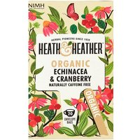 Heath and Heather Organic Echinacea and Cranberry 20 Teabags