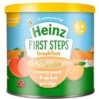 Heinz 6 Month First Steps Creamy Peach & Apricot Porridge Tub