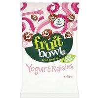 Fruit Bowl Yogurt Flakes Raisins 6 Pack