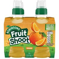 'Fruit Shoot No Added Sugar Orange 4 Pack