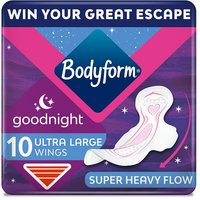 Bodyform Ultra Fit Towels Goodnight 10 Pack