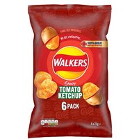'Walkers Tomato Ketchup Crisps 6 Pack