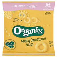 Organix 7 Month Crunchy Rings Sweetcorn