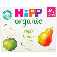 Hipp 4 Month Organic Apple & Pear Pots 4 Pack