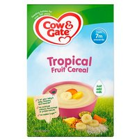 Cow & Gate 7 Month Tropical Fruit Cereal Packet