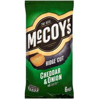 McCoys Cheddar and Onion 6 Pack