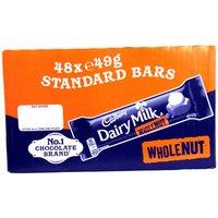 Cadbury Dairy Milk Wholenut - 48 x 45g