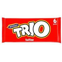 Mcvities Trio Toffee Biscuit Bars 6 Pack