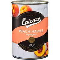 Epicure Peach Halves in Fruit Juice