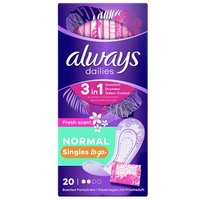 Always Dailies Single Panty Liners Fresh 20 Pack