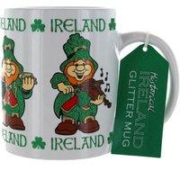 Ireland Glitter Leprechaun Mug