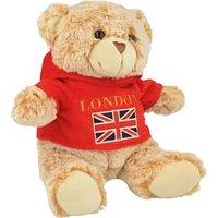 London Union Jack Fleece Hoodie Soft Toy Bear 15cm