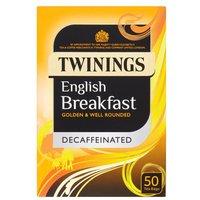 Twinings Decaffeinated English Breakfast Teabags 50s