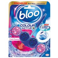 Bloo Blue Active Fresh Flowers Toilet Rim Block Freshner