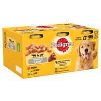 Pedigree Dog Tins Meat Selection in Loaf 6 Pack
