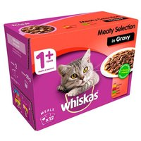 Whiskas in Gravy Wet Senior 1+ Cat Food Pouches Meaty Selection