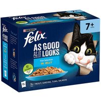 Felix As Good As It Looks Senior Cat Food Fish 12 x 100g