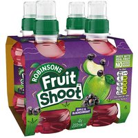 'Robinsons Fruit Shoot Apple & Blackcurrant No Added Sugar 4 Pack