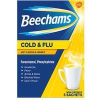 Beechams Cold And Flu Hot Honey & Lemon 5 Sachets