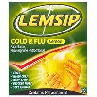 Lemsip Cold and Flu Original Lemon 10 Pack
