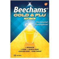 Beechams Cold And Flu Hot Lemon 10 Sachets
