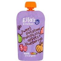 Ellas Kitchen 4 Month Sweet Potato Pumpkin Apple & Blueberry
