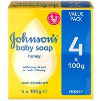Johnsons Honey Baby Soap 4 Pack