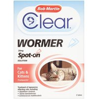 Bob Martin Spot On Dewormer Cats 2 Tube