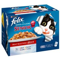 Felix Pouch Senior In Jelly 12x100g