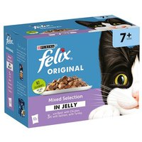 Felix Pouch Senior Mixed Selection In Jelly 12x100g
