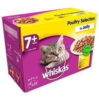 Whiskas 7+ Pouch Poultry Selection in Jelly x12