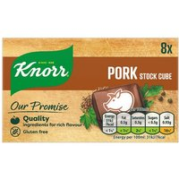 Knorr Pork Stock Cubes 8 Pack