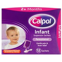 Calpol 2+ Months Strawberry Sachets 12 Pack