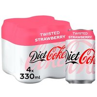 Diet Coke Twisted Strawberry 4 Pack