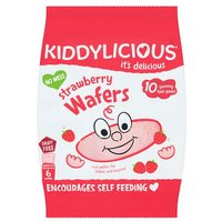 Kiddylicious Strawberry Wafers 10 Pack