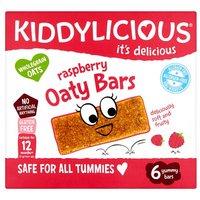 Kiddylicious Raspberry Allergen Free Oaty Bars 6 Pack