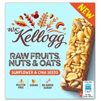 WK Kellogg's Raw Fruits Nuts & Oats Bars Sunflowers & Chia Seed 4 Pack