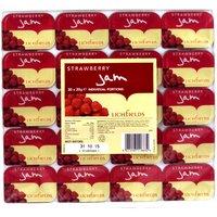 Lichfields Strawberry Jam Portions x 20