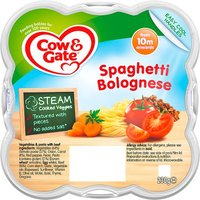 Cow & Gate 10 Month Steamed Meal Spaghetti Bolognese