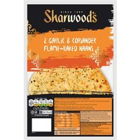 Sharwoods Garlic & Coriander Naan 2 Pack