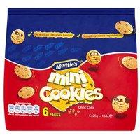 McVities Mini Chocolate Chip Cookies 6 Pack