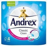 Andrex Toilet Tissue White 4 Rolls