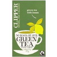 Clipper Fair Trade Green with Lemon 50 Teabags