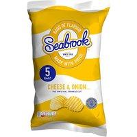Seabrook Crinkle Cut Cheese & Onion Crisps 6 Pack
