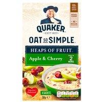 Quaker Oat So Simple Heaps Of Fruit Apple & Cherry 8 Pack