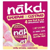 Nakd Rhubarb & Custard Multipack 4 Pack