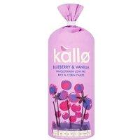 Kallo Blueberry & Vanilla Wholegrain Low Fat Rice & Corn Cakes
